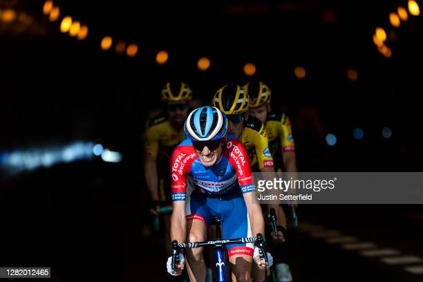 Romain Sicard of France and Team Total Direct Energie / Tunnel / Shadow / during the 75th Tour of Spain 2020, Stage 5 a 184,4km Huesca to Sabiñánigo...