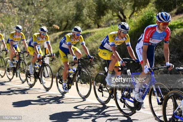 Romain Sicard of France Team Total Direct Energie / Amaury Capiot of Belgium and team Sport Vlaanderen - Baloise / Aaron Van Poucke of Belgium and...