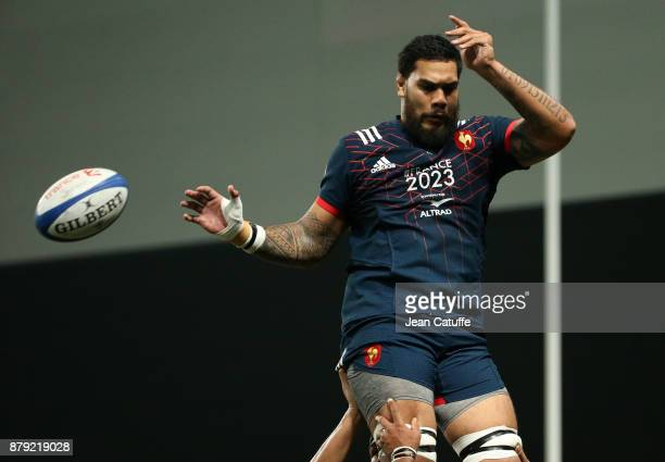 Romain Taofifenua of France during the Autumn International rugby match between France and Japan at U Arena on November 25 2017 in Nanterre near...