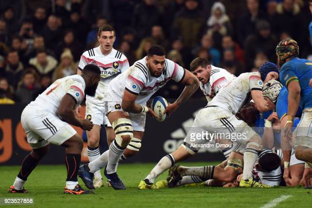 Romain Taofifenua of France during the NatWest Six Nations match between France and Italy at Stade Velodrome on February 23 2018 in Marseille France