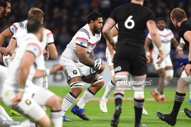 Romain Taofifenua of France during the rugby test match between France and New Zealand at Stade des Lumieres on November 14 2017 in Lyon France