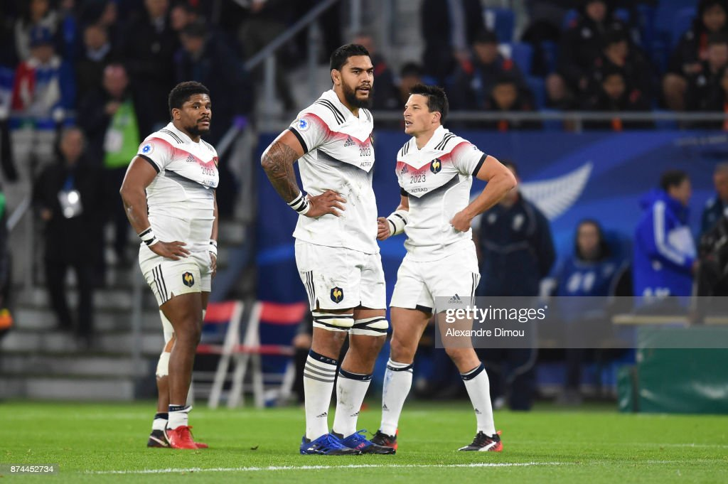 Romain Taofifenua of France during the rugby test match between France and New Zealand at Stade des Lumieres on November 14, 2017 in Lyon, France.