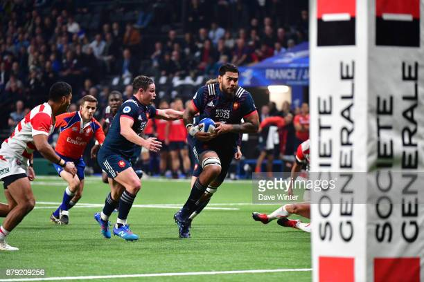 Romain Taofifenua of France during the test match between France and Japan at U Arena on November 25 2017 in Nanterre France