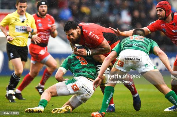 Romain Taofifenua of Toulon during the Champions Cup match between Toulon and Trevise at Felix Mayol Stadium on January 14 2018 in Toulon France