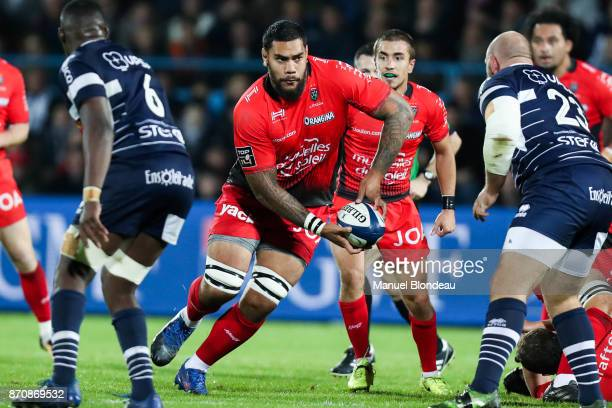 Romain Taofifenua of Toulon during the French Top 14 match between Agen and Toulon at Stade Armandie on November 4 2017 in Agen France