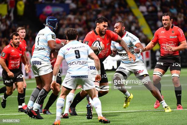 Romain Taofifenua of Toulon during the French Top 14 match between Racing 92 and Toulon at U Arena on April 8 2018 in Nanterre France