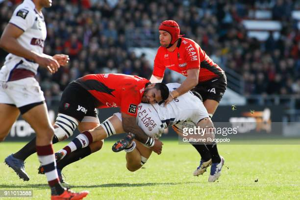 Romain Taofifenua of Toulon during the Top 14 match between RC Toulon and Bordeaux Begles at Felix Mayol Stadium on January 27 2018 in Toulon France