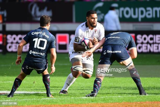 Romain Taofifenua of Toulon during the Top 14 match between Stade Francais Paris and RC Toulon at Stade Jean Bouin on September 24 2017 in Paris...