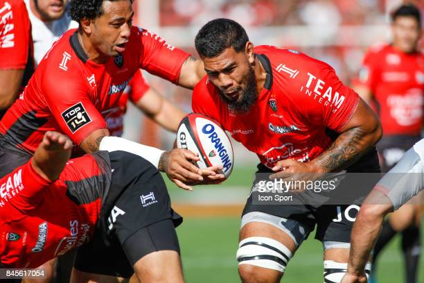 Romain Taofifenua of Toulon during the Top 14 match between Toulon and Toulouse on September 10 2017 in Toulon France