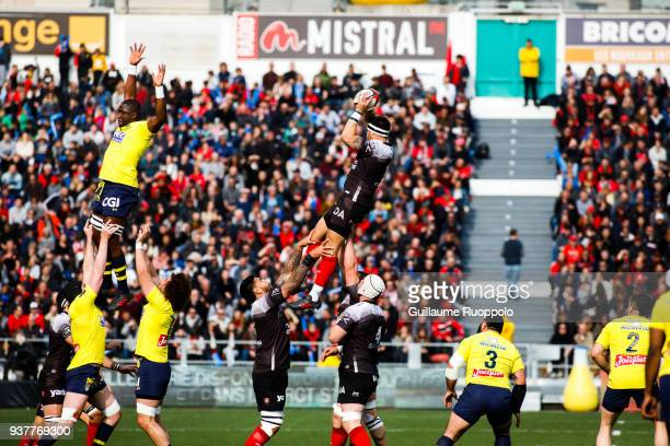 Romain Taofifenua of Toulon during the Top 14 match between Toulon and Clermont at Felix Mayol Stadium on March 25 2018 in Toulon France