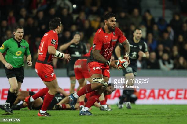 Romain Taofifenua of Toulon during the Top 14 match between Toulouse and Toulon on December 30 2017 in Toulouse France