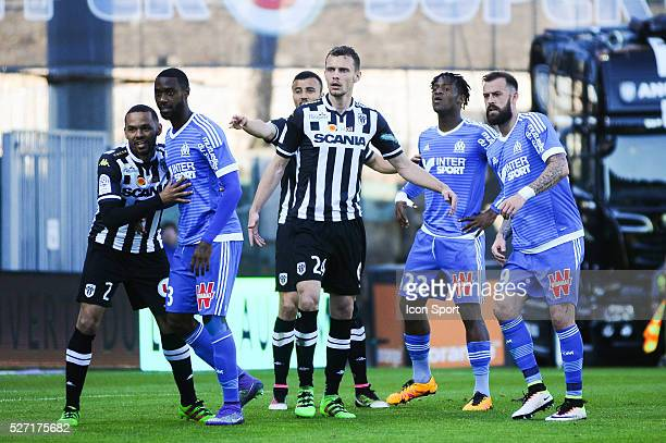 Romain Thomas during the French Ligue 1 match between Angers SCO and Olympique de Marseille on May 1 2016 in Angers France