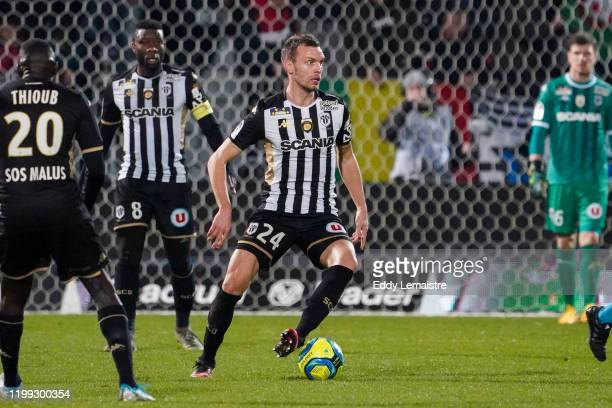 Romain THOMAS of Angers during the Ligue 1 match between Angers SCO and Lille OSC at Stade Raymond Kopa on February 7, 2020 in Angers, France.