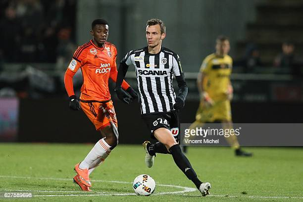 Romain Thomas of Angers during the Ligue 1 match between Angers SCO and FC Lorient on December 3 2016 in Angers France
