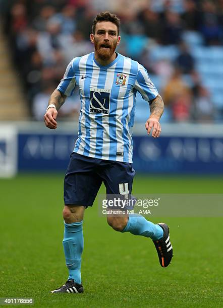 Romain Vincelot of Coventry City during the Sky Bet League One match between Coventry City and Shrewsbury Town at Ricoh Arena on October 3 2015 in...