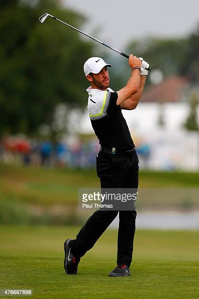 Romain Wattel of France plays a shot during the Lyoness Open day one at the Diamond Country Club on June 11 2015 in Atzenbrugg Austria