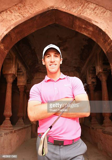 Romain Wattel of France poses for a picture prior to the start of the Hero India Open Golf at Delhi Golf Club on February 17 2015 in New Delhi India