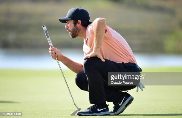Romain Wattel of France putting at the 8th hole during Day Two of the Dutch Open at Bernardus Golf on September 17, 2021 in Cromvoirt,...