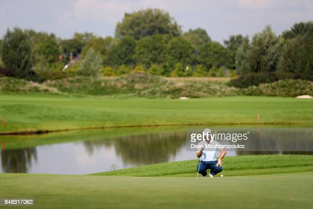 Romain Wattel of France putts on the 3rd hole during Day Four of the KLM Open at The Dutch on September 17 2017 in Spijk Netherlands