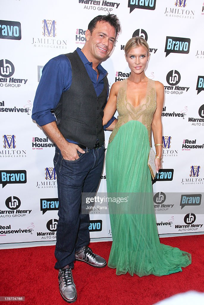 Romain Zago and Joanna Krupa attend The Real Housewives of Miami Season 3 Premiere Party on August 6, 2013 in Miami, Florida.