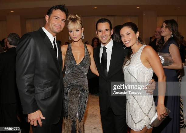 Romain Zago Joanna Krupa Helio Castroneves and Adriana Henao attend the Blacks' Annual Gala at Fontainebleau Miami Beach on April 13 2013 in Miami...