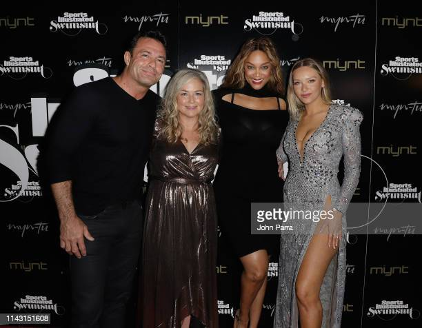 Romain Zago MJ Day Tyra Banks and Camille Kostek attend the Sports Illustrated Swimsuit Celebrates 2019 Issue Launch at MynTu on May 11 2019 in Miami...