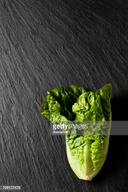 Romaine lettuce on slate
