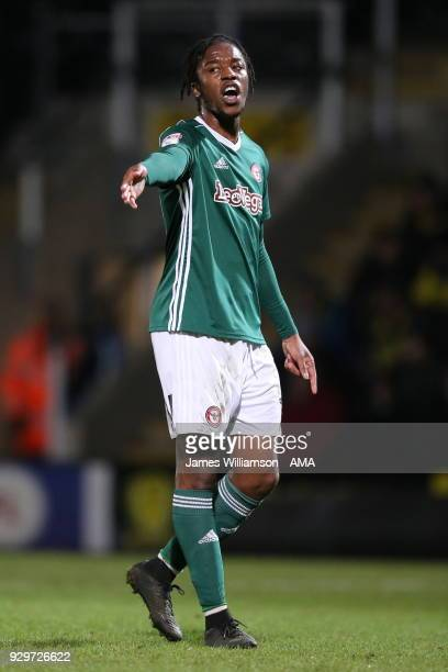 Romaine Sawyers of Brentford during the Sky Bet Championship match between Burton Albion and Brentford the at Pirelli Stadium on March 6 2018 in...