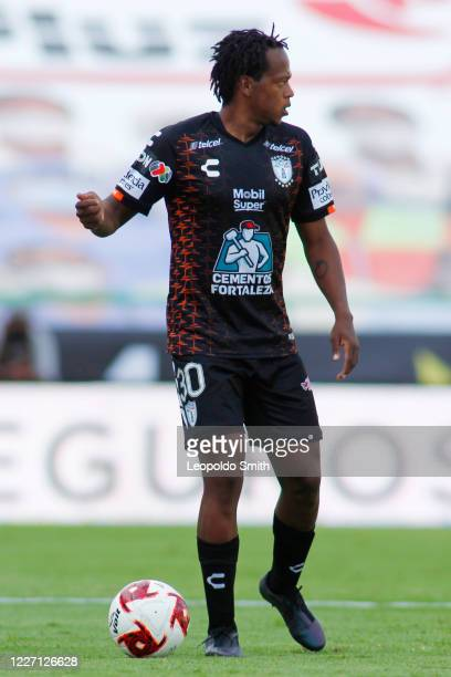 Romairo Ibarra of Pachuca in action during a match between Pachuca and Atletico San Luis as part of the friendly tournament Copa Telcel at Leon...
