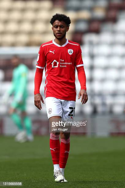 Romal Palmer of Barnsley during the Sky Bet Championship match between Preston North End and Barnsley at Deepdale on May 01, 2021 in Preston,...