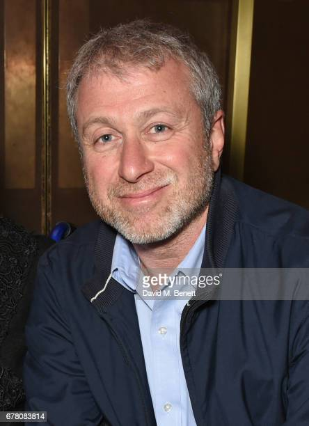 Roman Abramovich attends the press night after party for The Sovremennik Theatre Season at the May Fair Hotel on May 3 2017 in London England