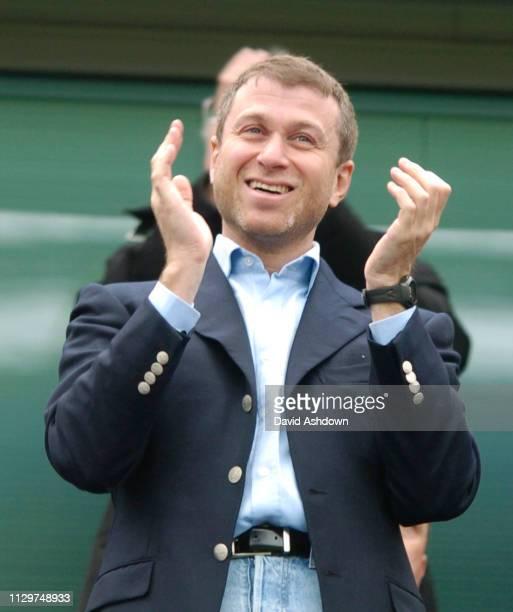 Roman Abramovich Chelsea owner during Chelsea v Fulham at Stamford Bridge 23 April 2005