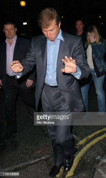 Roman Abramovich during Chelsea Footballer Andrei Shevchenko's 30th Birthday Party at Cocoon in London Great Britain