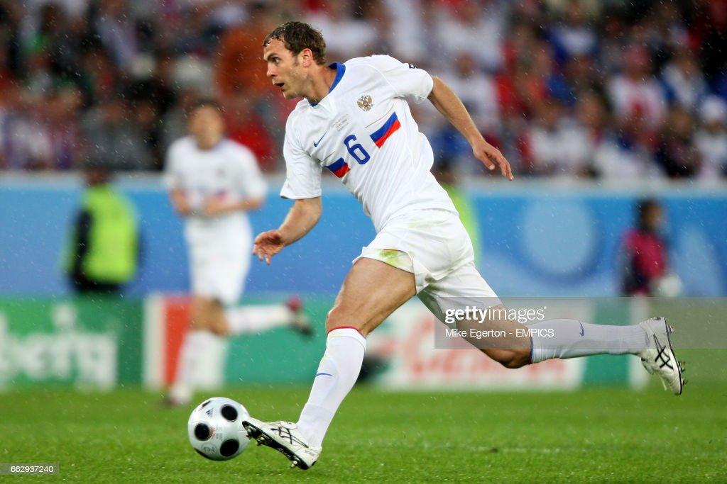 Soccer - UEFA European Championship 2008 - Group D - Spain v Russia - Tivoli Neu Stadium : News Photo