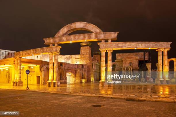 roman amphitheater in macau - gwengoat stock pictures, royalty-free photos & images