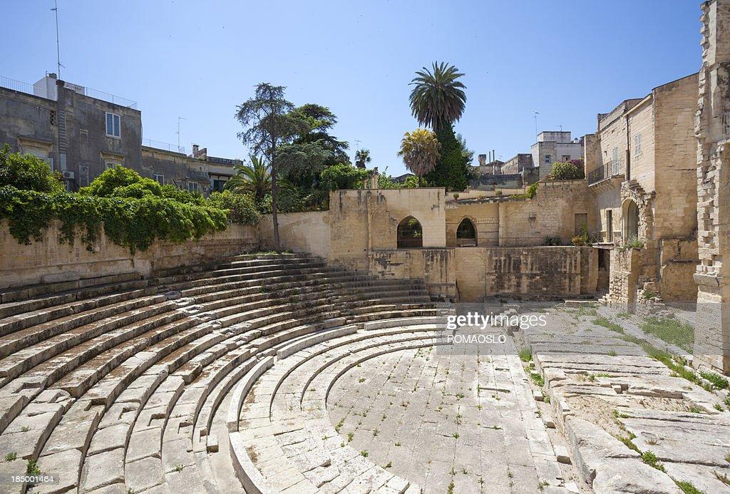 Roman Amphitheater - Teatro romano di Lecce, Puglia Italy : Stock Photo