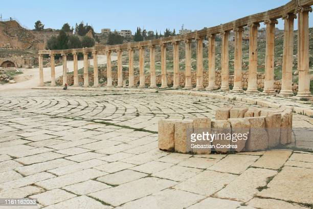 roman amphitheatre in amman city, middle east, travel to jordan. - jordan middle east stock pictures, royalty-free photos & images