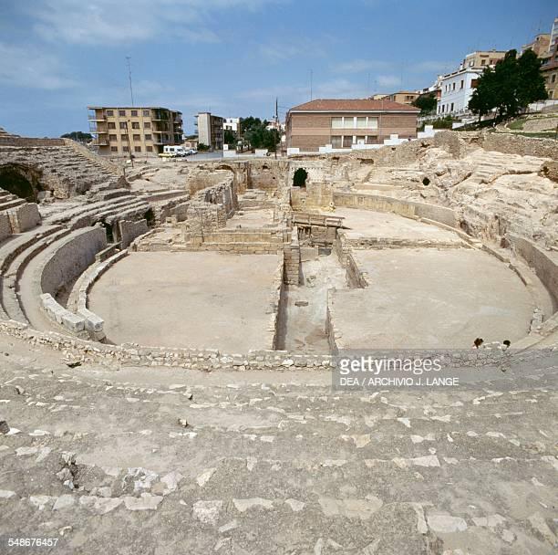 Roman amphitheatre in Tarragona detail Catalonia Spain Roman 1st century BC1st century AD