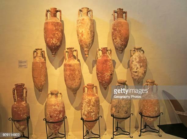 Roman amphora wine jugs Archaeological museum Rabat Victoria Gozo Malta