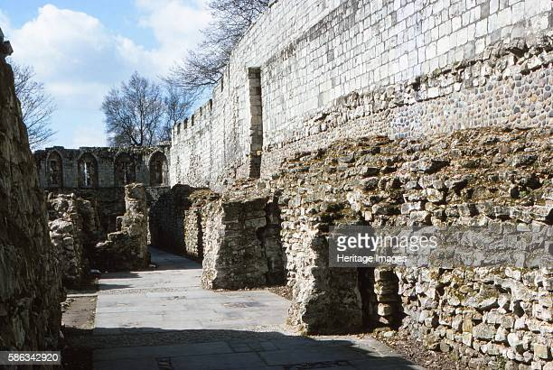 Roman and Medieval City Wall, York, 20th century. Since Roman times, cities were defended by walls of one form or another. York has more miles of...