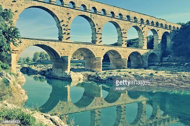 Roman aqueduct at Pont du Gard, France