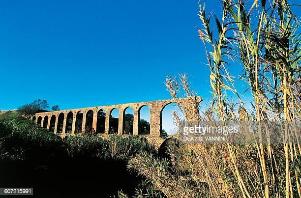 Roman aqueduct near Vulci Lazio Italy Roman civilisation 1st century BC