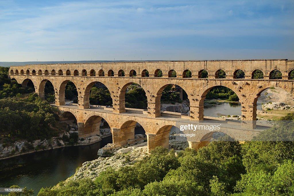 Roman aqueduct Pont du Gard, France : Stock Photo