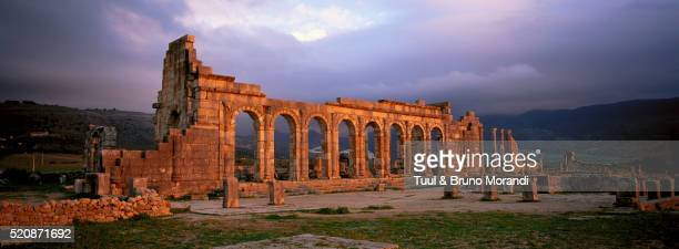Roman archeological site in Volubilis, Morocco