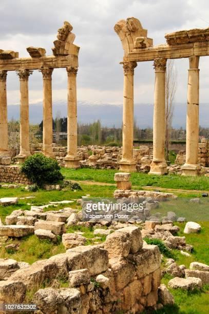 Roman arches, UNESCO World Heritage Site, Baalbek, Beqaa Valley, Lebanon, Middle East, Orient
