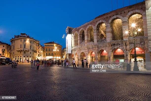 Roman Arena at night, Verona, Italy