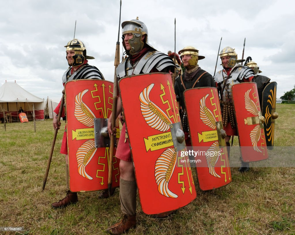 Re-enactors Of Soldiers Throughout History Take Part In The Frontline -Sedgefield Event : News Photo