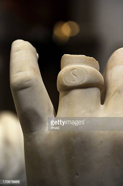 Roman Art Asia Minor Turkey Fragments from colossal emperor statues of Trajan and Hadrian Hand Marble It comes from Trajaneum 114138 AD Pergamon...