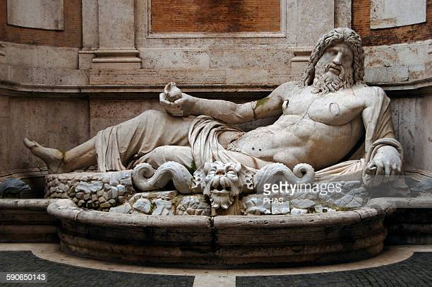 Roman Art. Marphurius or Marforio. One of the talking statues of Rome. 1st century A.D. Marble sculpture depicting a reclining bearded river god or...