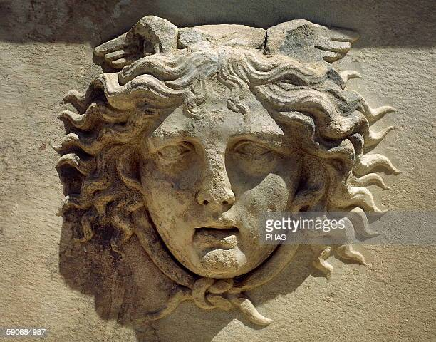 Roman art Medusa Relief Monster Sarcophagi Aphrodisias Caria Turkey